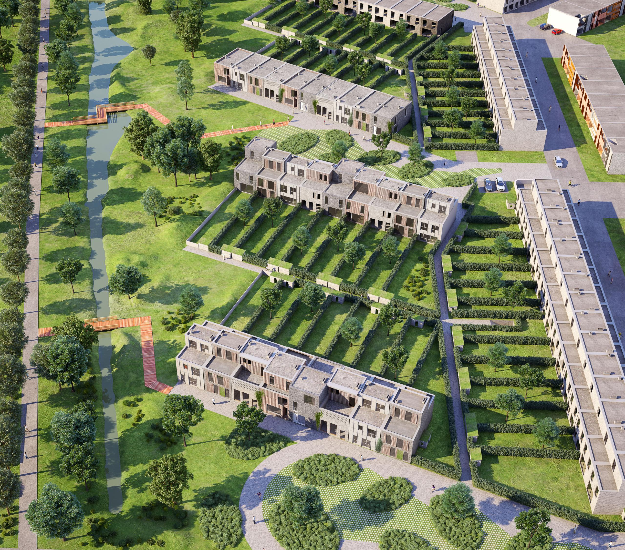 Woonproject Päpenhof een groene oase nabij Mechelen Centrum, bouwkavels te koop