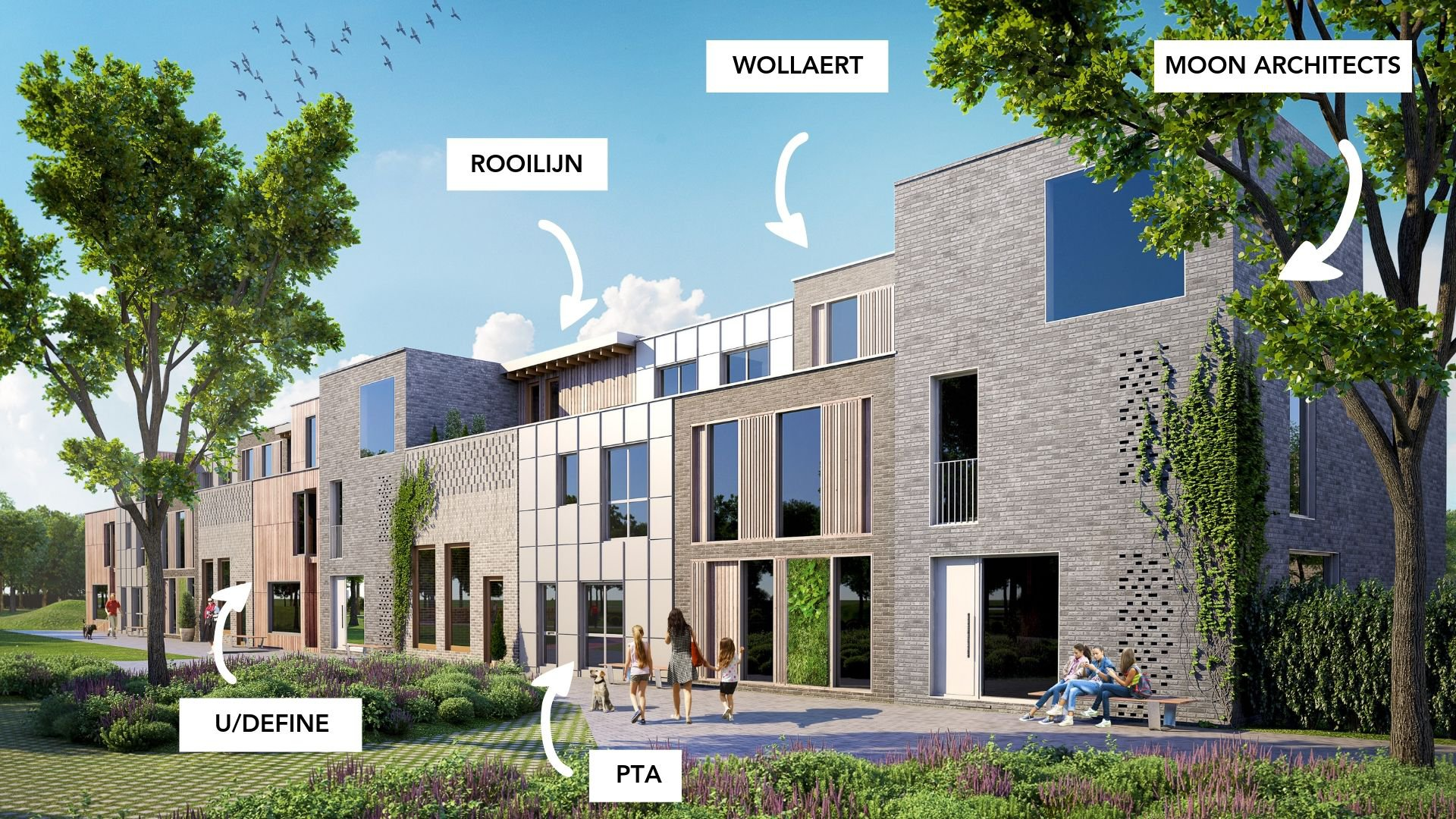 Woonproject Papenhof: architectenpool