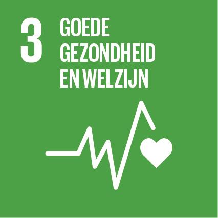 Pictogram van SDG goede gezondheid en welzijn
