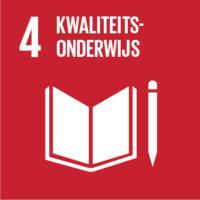 Pictogram van SDG kwaliteitsonderwijs