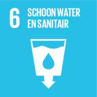Pictogram van SDG schoon water en sanitair