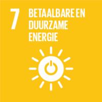 Pictogram van SDG betaalbare en duurzame energie