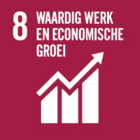 Pictogram van SDG waardig werk en economische groei