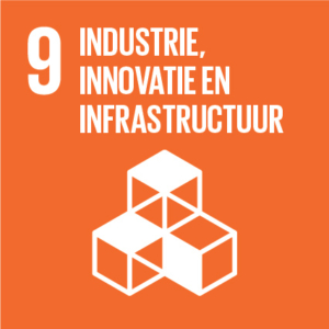 Pictogram van SDG industrie innovatie en infrastructuur
