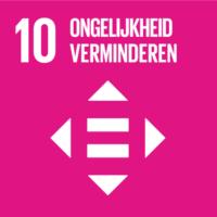 Pictogram van SDG ongelijkheid verminderen